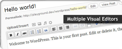 How to Use Multiple WordPress WYSIWYG Visual Editors